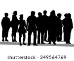 big crowds people on white... | Shutterstock .eps vector #349564769