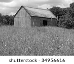 Pioneer Barn in a Field