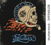 rider skull vintage graphic... | Shutterstock .eps vector #349568108