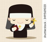pastor and nun theme elements | Shutterstock .eps vector #349569020