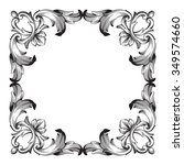 vintage baroque frame scroll... | Shutterstock .eps vector #349574660