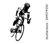 cyclist vector. road cycling | Shutterstock .eps vector #349579550