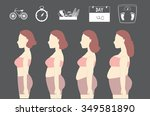silhouettes of women losing...   Shutterstock .eps vector #349581890