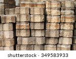 a pile of concrete blocks | Shutterstock . vector #349583933