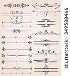various label border elements... | Shutterstock .eps vector #349588466