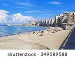 cefalu  sicily  september 28 ... | Shutterstock . vector #349589588