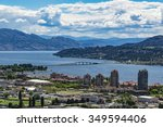 A view of Kelowna British Columbia and Okanagan Lake from Knox Mountain