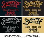 superior  vector print and... | Shutterstock .eps vector #349595033