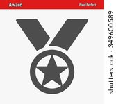 award icon. professional  pixel ... | Shutterstock .eps vector #349600589