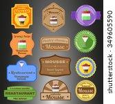 mousse multiple styles badges...   Shutterstock .eps vector #349605590