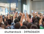 crowd of people  shooting photo ... | Shutterstock . vector #349606604