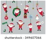 set of christmas santa claus | Shutterstock .eps vector #349607066
