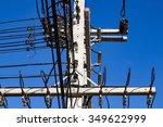 electric line | Shutterstock . vector #349622999