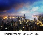 hong kong from the victoria peak | Shutterstock . vector #349624283