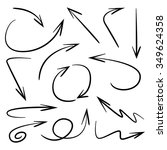 vector hand drawn arrows | Shutterstock .eps vector #349624358