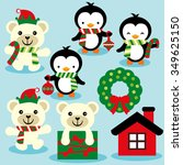 Christmas Penguins And Polar...