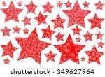 christmas stars vector   Shutterstock .eps vector #349627964