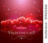 happy valentine's day message ...   Shutterstock .eps vector #349631666