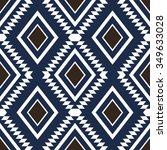 dark color tribal seamless... | Shutterstock .eps vector #349633028