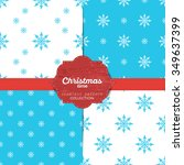 set of vector christmas... | Shutterstock .eps vector #349637399
