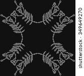 circular pattern  of floral... | Shutterstock .eps vector #349649270