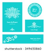 business card and logo template.... | Shutterstock .eps vector #349650860