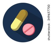 Medical Pills Capsules Icon