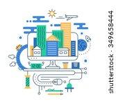 travel planning. illustration... | Shutterstock . vector #349658444