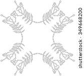 circular pattern  of floral... | Shutterstock .eps vector #349668200