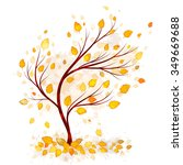 autumn tree vector | Shutterstock .eps vector #349669688