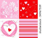 fresh background in red and... | Shutterstock .eps vector #34967539