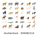big collection of wild animals | Shutterstock . vector #349682114
