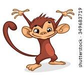 illustration of a chimp... | Shutterstock .eps vector #349683719