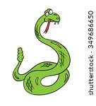 cartoon snake  contour... | Shutterstock . vector #349686650