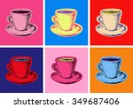 Set Of Coffee Mug Vector...