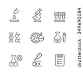 set line icons of medical... | Shutterstock .eps vector #349690184