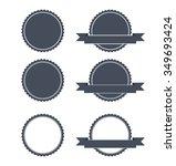blank round stamp logo  ... | Shutterstock .eps vector #349693424
