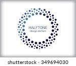 abstract halftone logo design... | Shutterstock .eps vector #349694030
