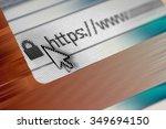 closeup of http address in web... | Shutterstock . vector #349694150