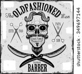 oldfashioned barber graphic | Shutterstock .eps vector #349697144