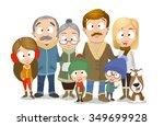 very adorable family portrait... | Shutterstock .eps vector #349699928