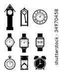 vector clock collection | Shutterstock .eps vector #34970458