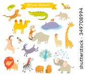 africa animals vector... | Shutterstock .eps vector #349708994