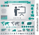 business training   infographic ... | Shutterstock .eps vector #349718618