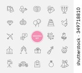 outline web icon set wedding | Shutterstock .eps vector #349718810
