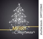 christmas tree symbol stars... | Shutterstock .eps vector #349722860
