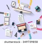 business meeting and... | Shutterstock .eps vector #349739858