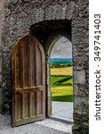 Open  Heavy Door With View To...
