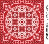 vector decorative ornate...   Shutterstock .eps vector #349742843