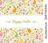 sweet easter design | Shutterstock .eps vector #349744544